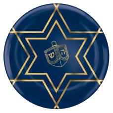 Amscan Hanukkah Celebration Premium Plastic Plates