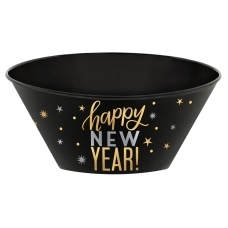 Amscan New Years Plastic Serving Bowls
