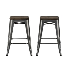 DHP Fusion Backless Counter Stool Charcoal