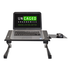 Uncaged Ergonomics WorkEZ Notebook stand black