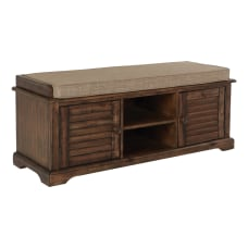Ave Six Canton Storage Bench Caramel