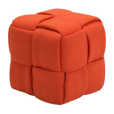 Zuo Modern Checks Stool Orange