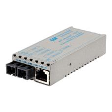 miConverter 101001000 Gigabit Ethernet Fiber Media
