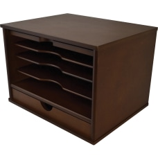 Victor Heritage Wood Desktop Organizer 4