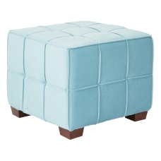 Ave Six Sheldon Tufted Ottoman OceanCoffee