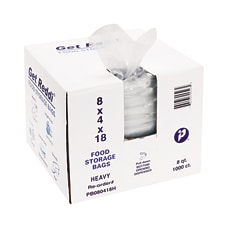 Get Reddi BAGS1MILCLR POLY8x4x18 Box of