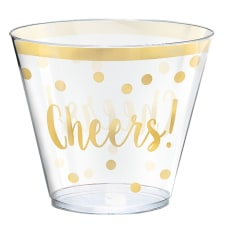 Amscan New Years Cheers Plastic Tumblers