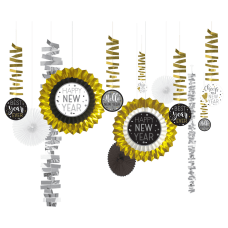 Amscan New Years Decorating Kit Multicolor