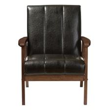 Baxton Studio Luisa Lounge Chair BlackCocoa