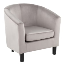 LumiSource Claudia Barrel Chair SilverBlack