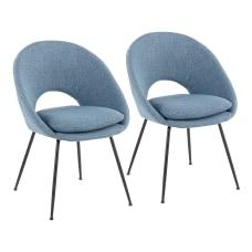 LumiSource Metro Chairs Blue NoiseBlack Set