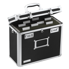Vaultz Locking Storage File Tote Letter