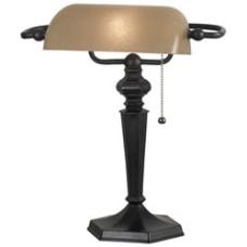 Kenroy Chesapeake Banker Table Lamp Amber