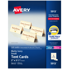 Avery Embossed Tent Cards 2 x