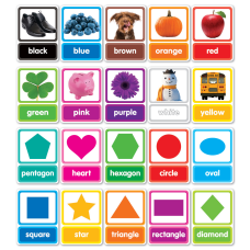 Scholastic Colors Shapes In Photos Bulletin