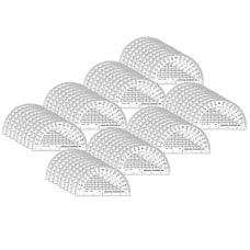 Charles Leonard Plastic Protractors 6 Pack