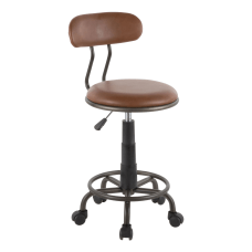 LumiSource Swift Task Chair Antique MetalBrown