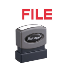 Xstamper FILE Title Stamp Message Stamp