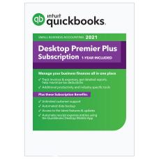 Intuit QuickBooks Desktop Premier Plus 2021
