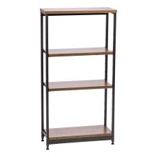 IRIS Tall Wood And Metal Shelf