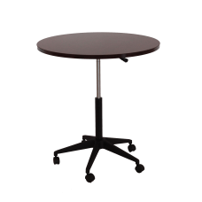 Boss Mobile Round Height Adjustable Table
