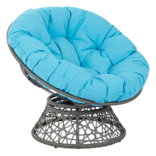 Office Star Papasan Chairs BlueGray
