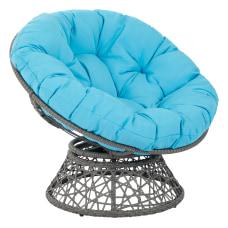 Office Star Papasan Chairs BlueGray