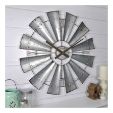FirsTime Co Windmill Wall Clock Galvanized