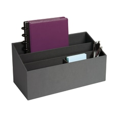 Realspace Gray 4 Compartment Desk Caddy