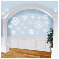 Amscan Christmas Snowflake Cutouts White Pack