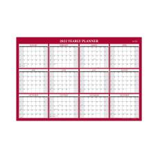 Blue Sky Yearly Laminated Calendar 48