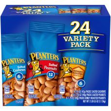PLANTERS Peanuts Cashews Nuts Variety Pack