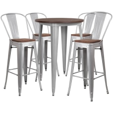 Flash Furniture Round Metal Bar Table