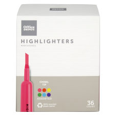 Office Depot Brand Chisel Tip Highlighter