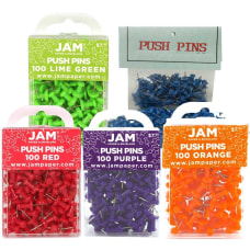JAM Paper Pushpins 12 Assorted Colors