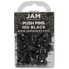 JAM Paper Pushpins 12 Black Pack