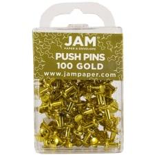 JAM Paper Pushpins 12 Gold Pack