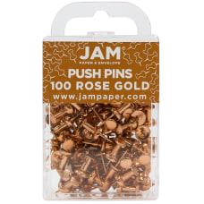 JAM Paper Pushpins 12 Rose Gold