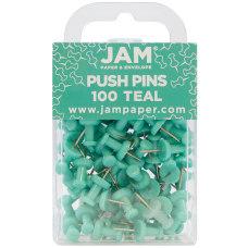 JAM Paper Pushpins 12 Teal Pack