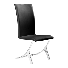 Zuo Modern Delfin Dining Chairs BlackChrome