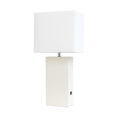 Elegant Designs Modern Leather Table Lamp