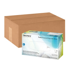 Tronex Disposable Powdered Latex Gloves Large