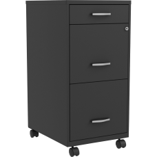 Lorell SOHO 18 3 Drawer Steel
