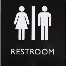 Lorell Restroom Sign 1 Each 8
