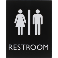 Lorell Restroom Sign 1 Each 64