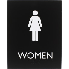 Lorell Restroom Sign 1 Each Women