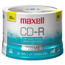 Maxell CD R Media 700MB 50