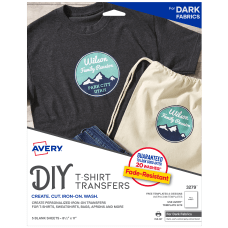 Avery T Shirt Transfers Dark Pack