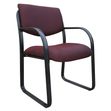 Boss Fabric Contoured Guest Chair BlackBurgundy