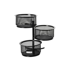 Rolodex Mesh 3 Tier Swivel Paper